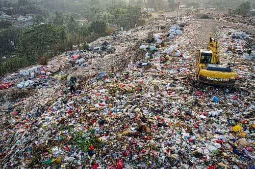 Plastic: Pyramid of plastic waste